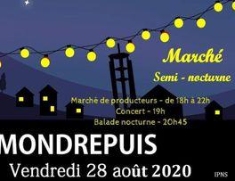 Marché nocturne Mondrepuis < Thiérache < Aisne < Hauts de France < France -