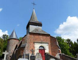 Eglise fortifiée < Grandrieux < Aisne < Picardie -