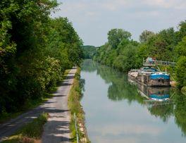 La Voie Verte au bord du canal de l'Oise -